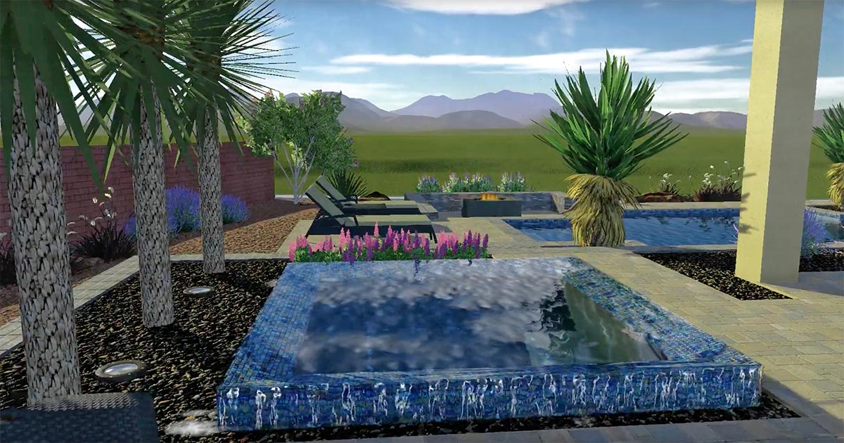 Pool Concept Render Water Feature